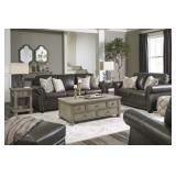 Ashley 326 Lawthorne  Leather Sofa & Love - AS-IS