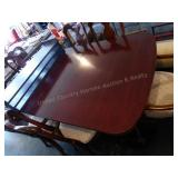 Vintage claw foot table w/ 3 leaves - 6 chairs
