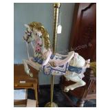 Circus horse with pole