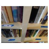 Contents of 2 shelves - misc books