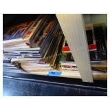 1 shelf misc books and magazines