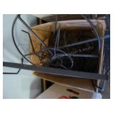 Misc metal rack items