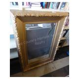 Large mirror with decorative frame 35x49