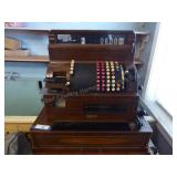 Vintage National cash register with 2 keys