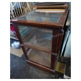 Vintage glass display cabinet 42x47x27