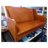 Vintage Danish style love seat - leather