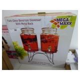 Twin glass beverage dispenser