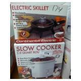 Slow cooker & elec. skillet
