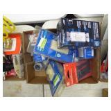 2 boxes misc. elec. items