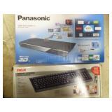 Blu-ray disc player & keyboard