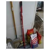 2 brooms & brush