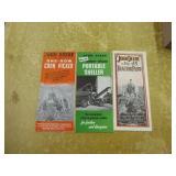 Vintage John Deere No. 43, 45, 101 brochures