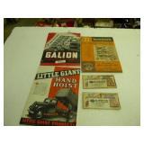 Vintage tractor & pump truck literature