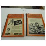 1943 & 1947 Tractor Field books