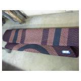 Red, white & blue braided rug 65 x 100