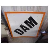"Vintage metal ""DAM"" sign"