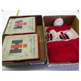 Vintage IH cap (dirty) & 2 empty IH boxes