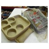 Vintage NOS window snack trays & auto snack tray