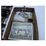 Vintage Portage & local photos, ashtray & papers