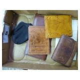 Leather wallets & other