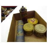 Vintage tins w/ Goodyear & Frank Millers