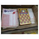 Vintage game cards & boards