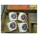 4 vintage Marine Corp cups