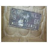 1966 Aurora, Ill license plate