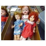 3 vintage dolls