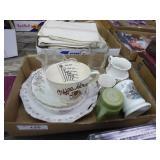 Vintage cups, plates & misc.