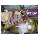 3 boxes old & new dolls
