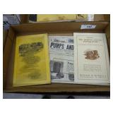 Vintage water & pump literature