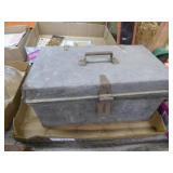Vintage metal latching box