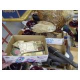 2 boxes misc. items w/ Winchester tags & pheasant