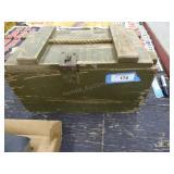 Vintage wood ammo crate