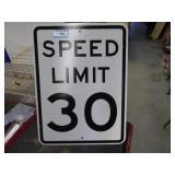 """Speed Limit"" sign"