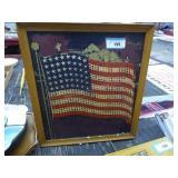 Vintage American Flag lighted display (paint missi