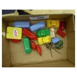 Vintage small plastic toys