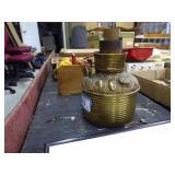 Brass oil lamp base