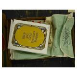 Vintage fabric silverware holders - wax paper - ca