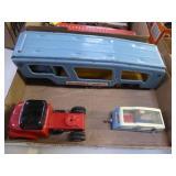 Vintage metal toy cars: Dinky trailer - Japan truc