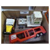 Metal vehicles: truck - trailer - car