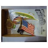 Metal flag, American Legion item & decal