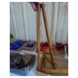 2 wood picture stands