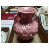 """Pink pottery 8"""" vase"""
