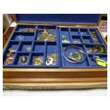 """Handcrafted jewelry box & contents 15"""" x 10"""" x 4"""