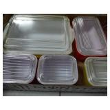 Pyrex refrigerator dishes (lids chipped)