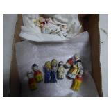 """Vintage bisque dolls - 2 1/4"""" & smaller"""