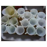 Fire King & Anchor Hocking white cups