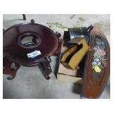 """Wooden wares including 13"""" plant stand"""